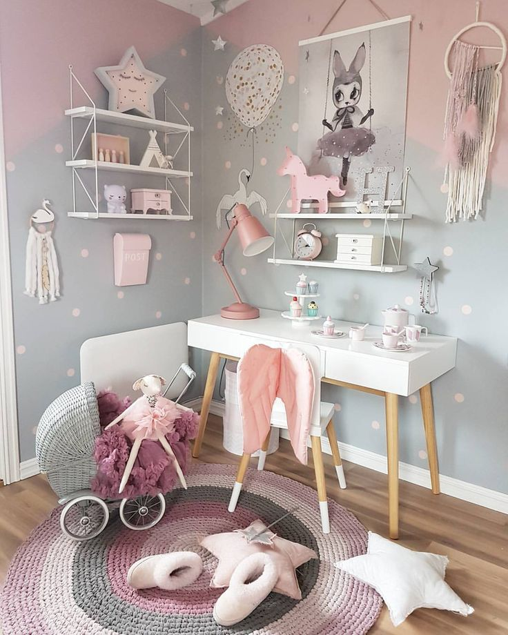 girls bedrooms lovely pink and grey decor for kidu0027s bedroom FWLTMJC