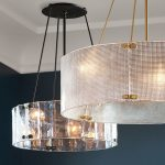 Give that classy look to your room with a glass chandelier