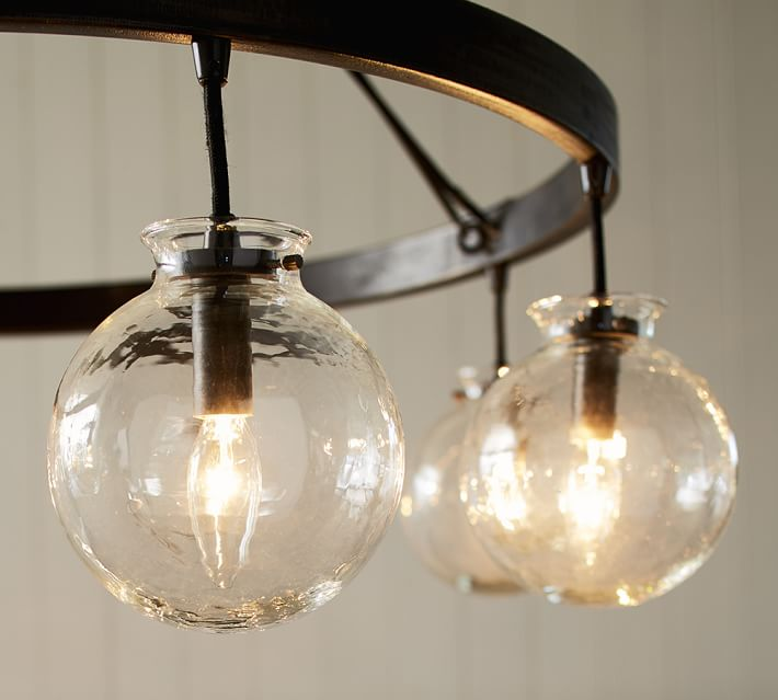 globe lighting barrett glass globe chandelier | pottery barn XPHLXDN