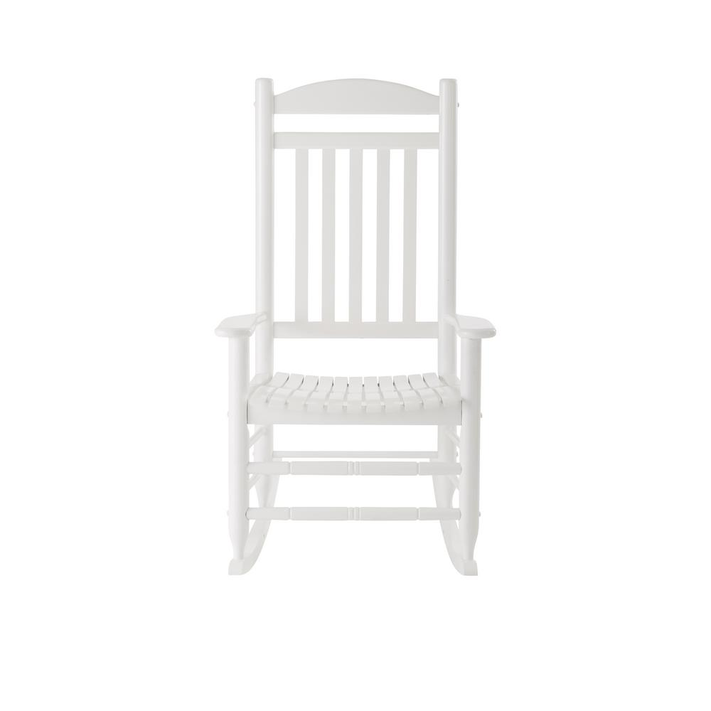 glossy white wood outdoor rocking chair-it-130828w - the home depot BSMWDSU