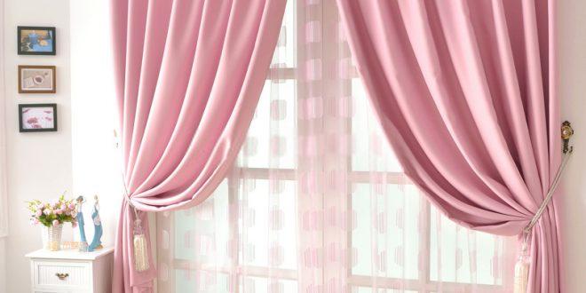 good quality solid girls cheap pink curtains KGWUVUB