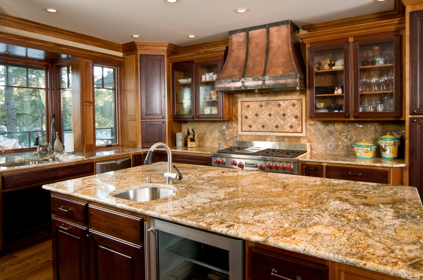 granite kitchen countertops marvelous traditional kitchen design decorated with cream granite kitchen  countertops and wooden KWFHSAG