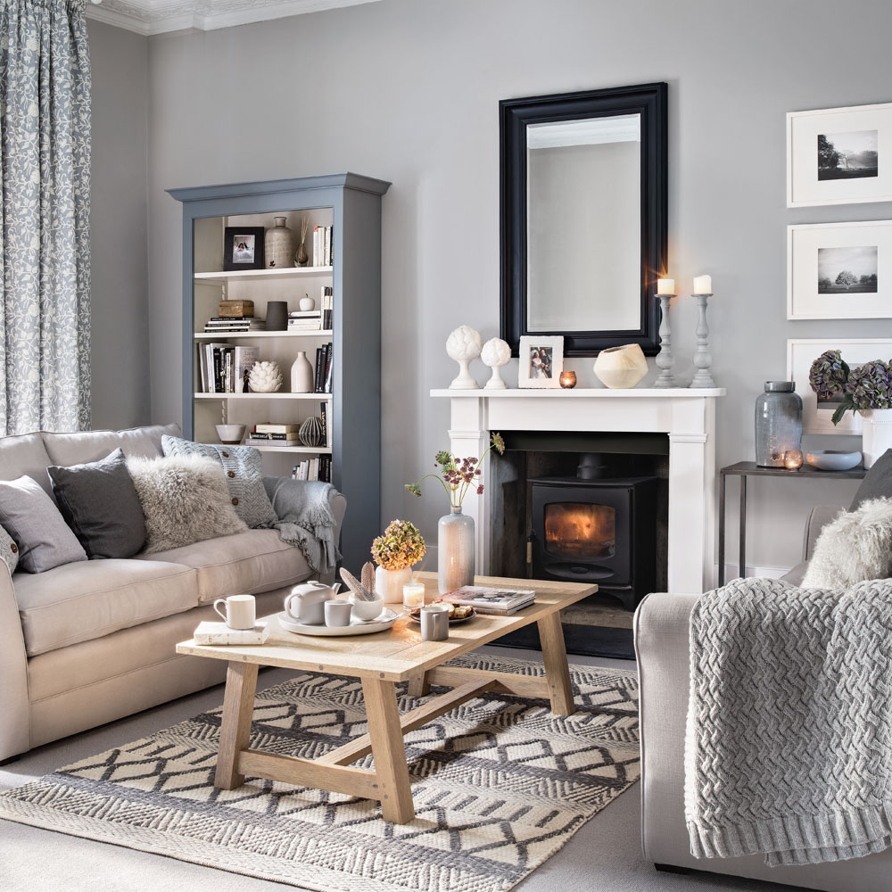 Grey Living Room introduce plenty of pattern and texture YIABZQO