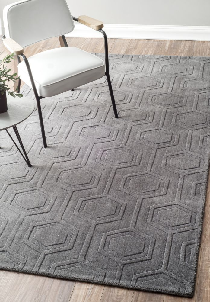 grey rugs shop for nuloom handmade carved hexagon wool grey rug x get freeu2026 YFSCPXA
