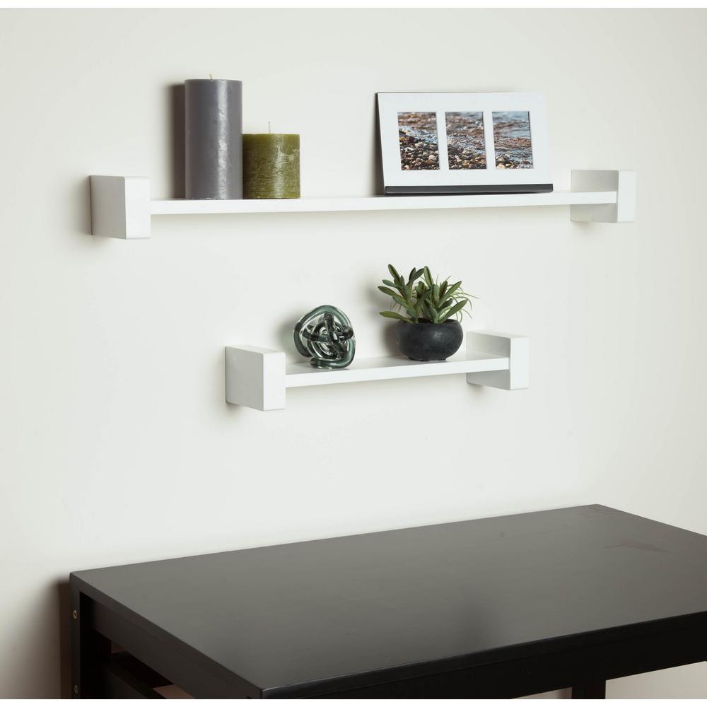 h-shape white wall shelf decorative shelf PVTXSNM
