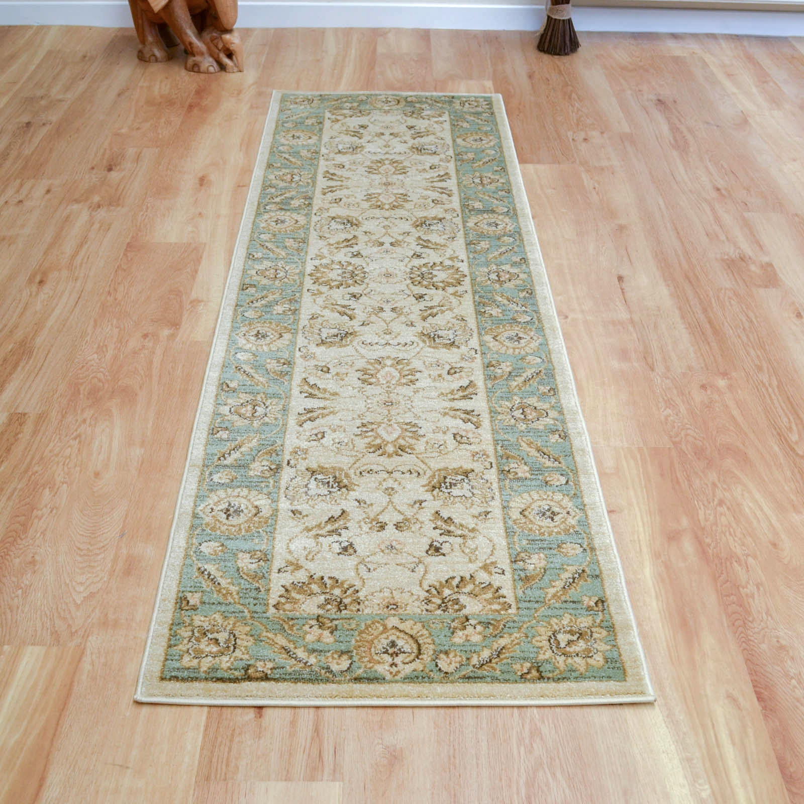 hall runners ziegler hallway runner 7709 in cream and green free uk delivery in hall CVQLXQW