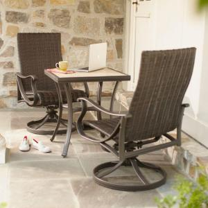 hampton bay pembrey 3-piece patio bistro set-hd14205 - the home depot CVOZGRR