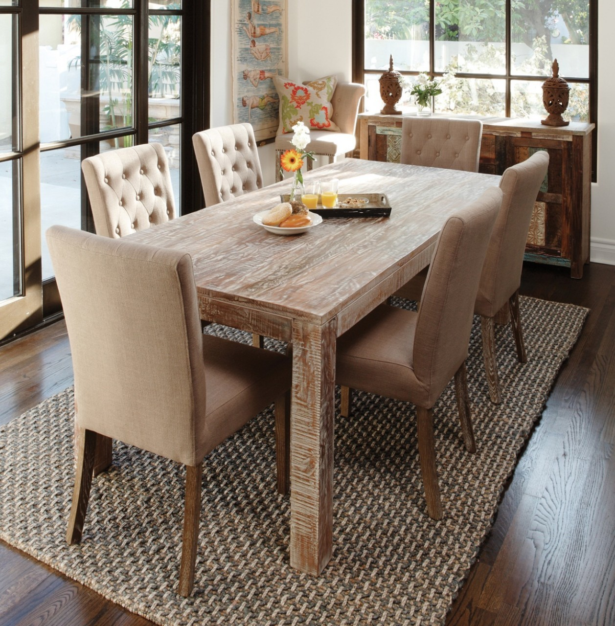 hampton farmhouse dining room table 72 LVTJBEX