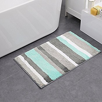 hebe non-slip bathroom mats shag microfiber shower bath rug absorbent bath PTQLYKE