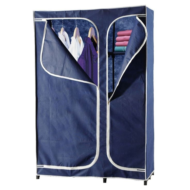 heels above 43-inch portable wardrobe closet (blue) (metal) LPQUNVI