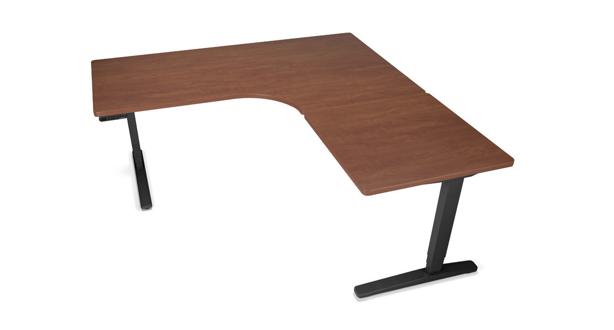 height adjustable desk uplift height adjustable standing desk with l-shaped custom laminate desktop ECKVZYQ