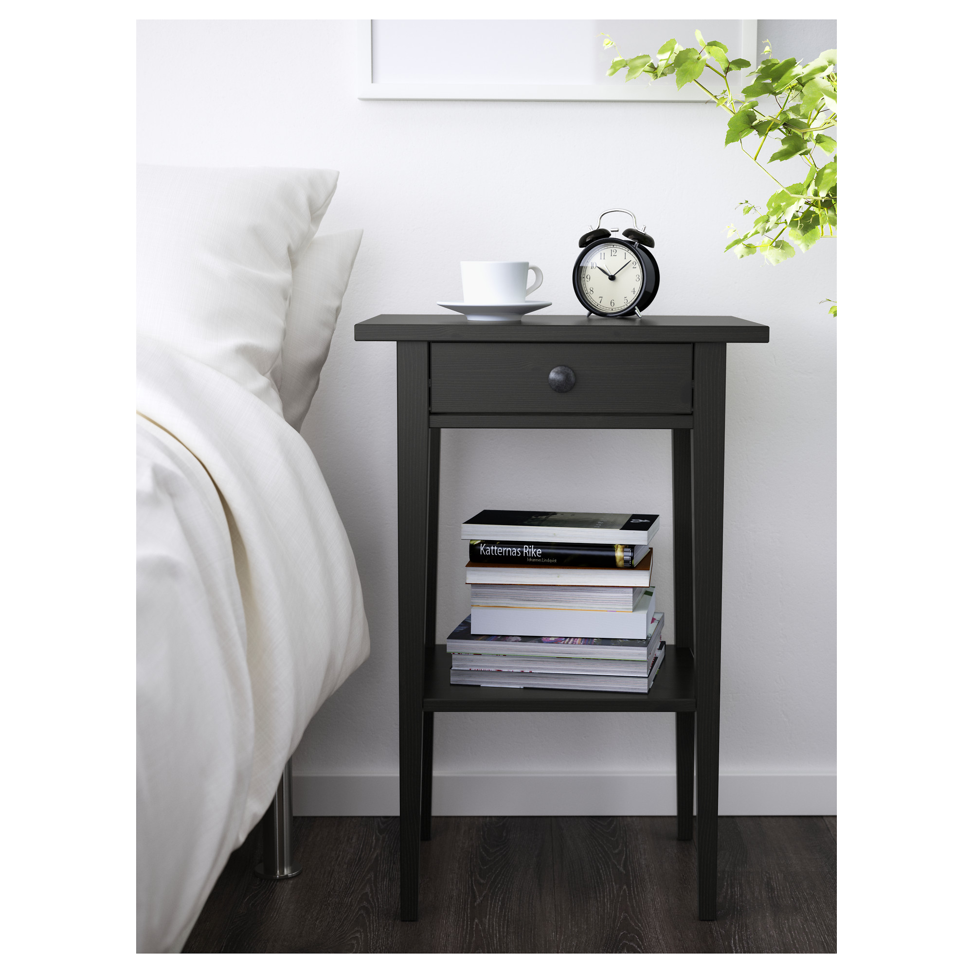 hemnes bedside table - black-brown - ikea ZXCMIUM