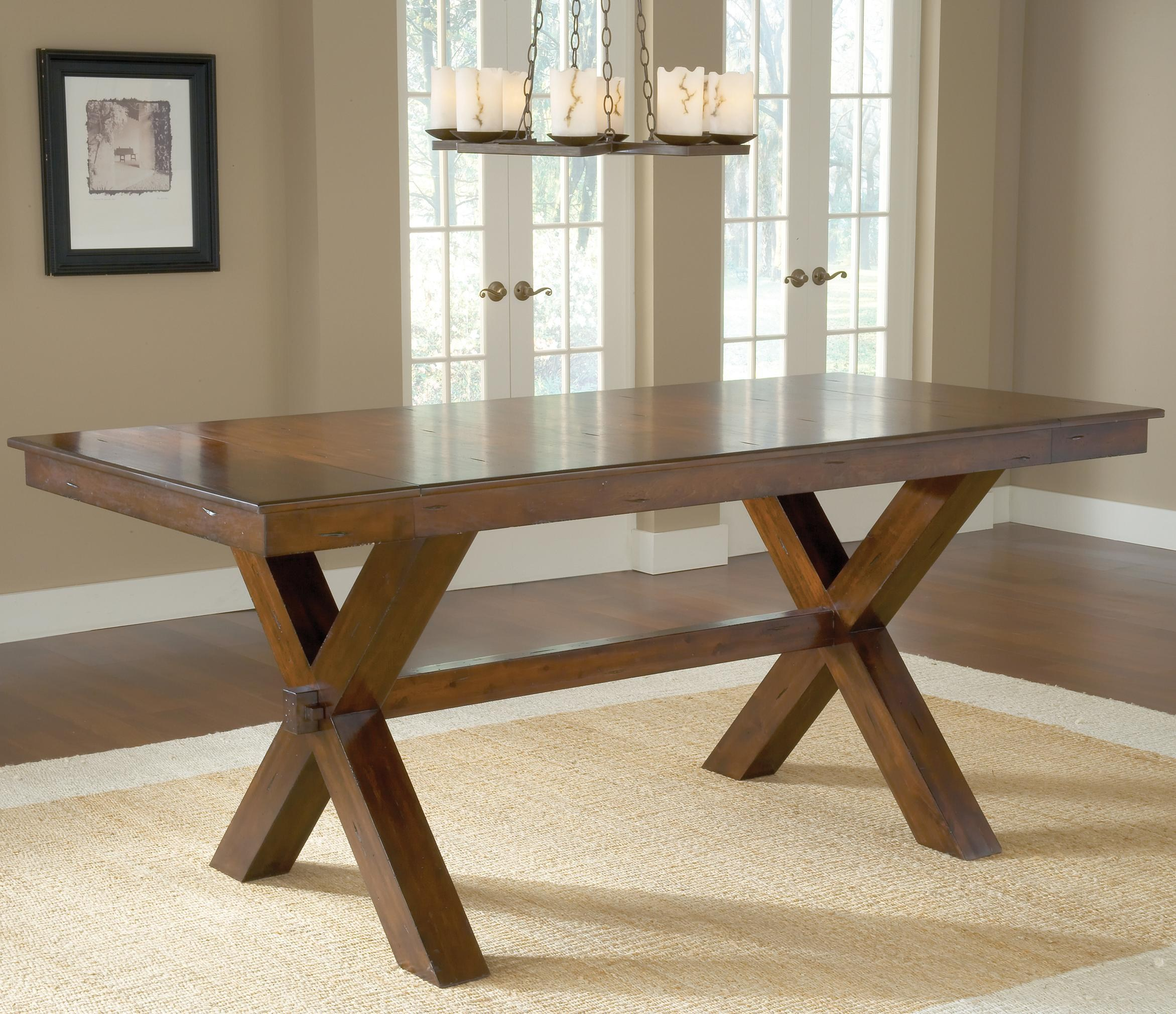 hillsdale park avenue counter height trestle table BWFDEZA