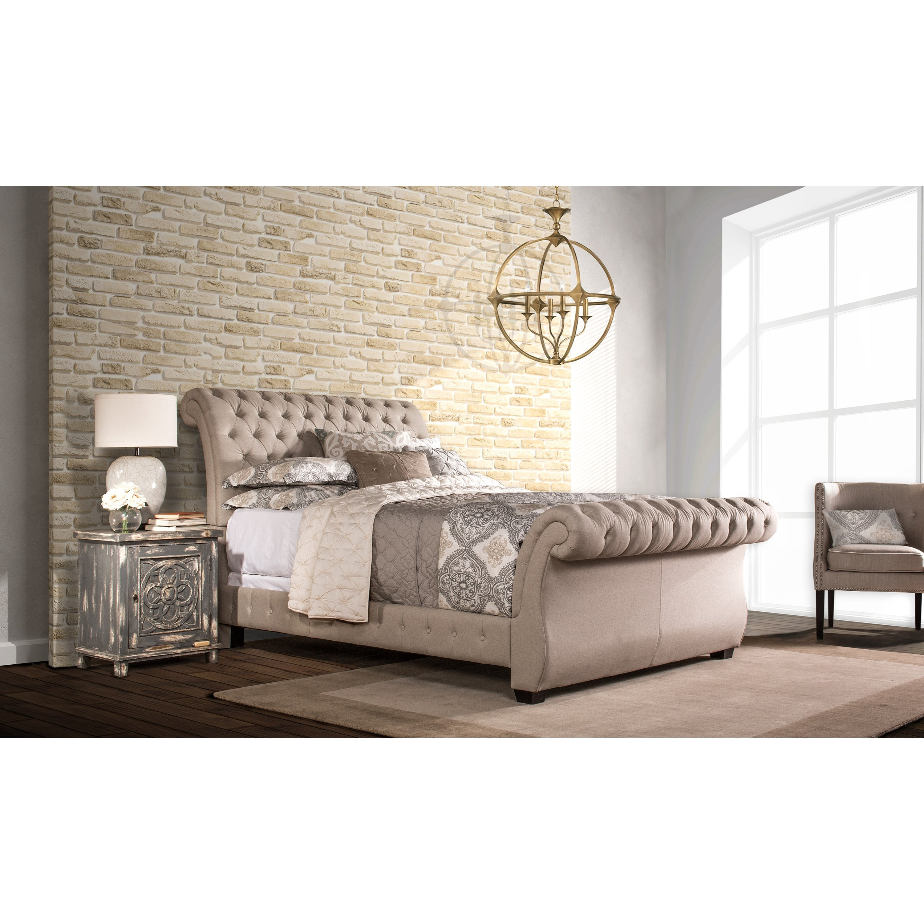 hillsdale upholstered beds queen bombay bed - item number: 1118bqrl TBKLOLB