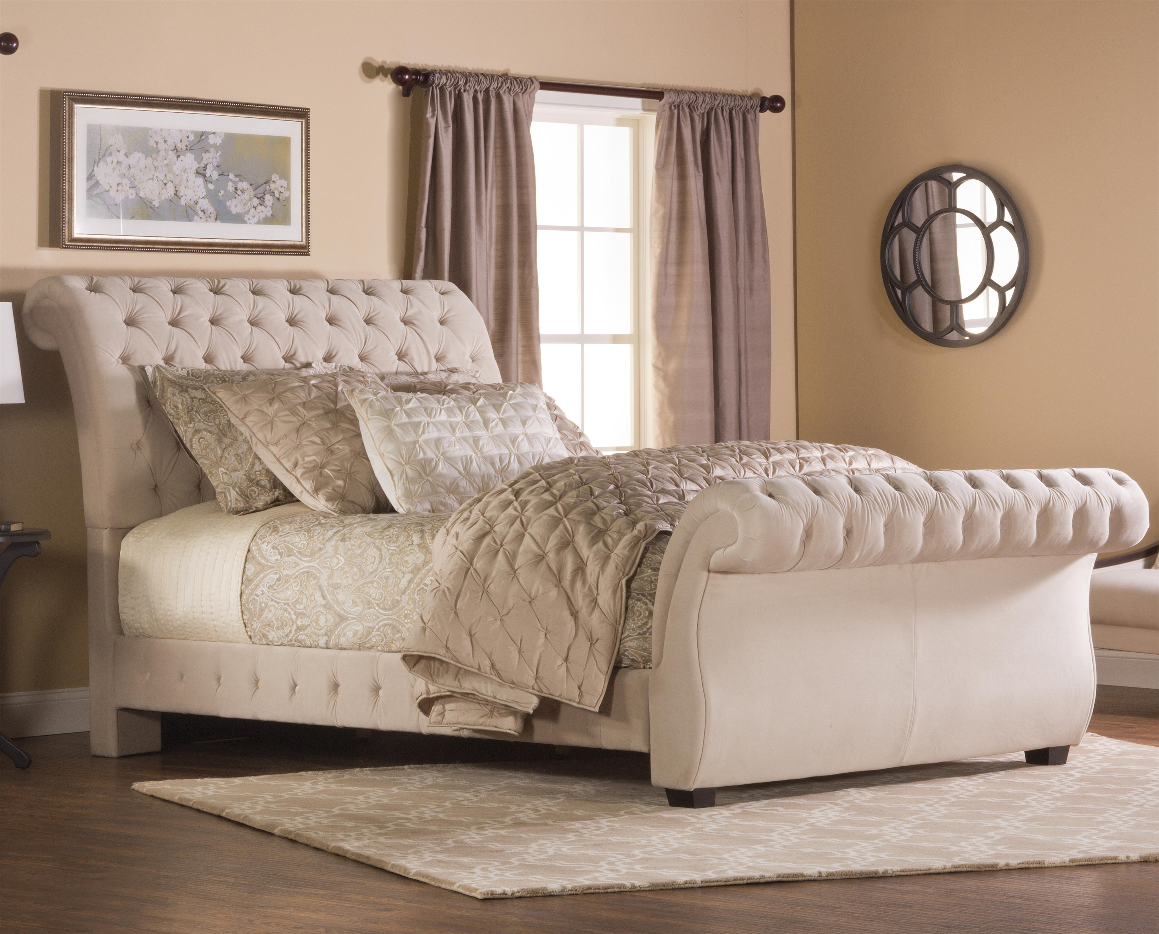 hillsdale upholstered beds queen bombay bed - item number: 1773-503+533 TUSCNZW