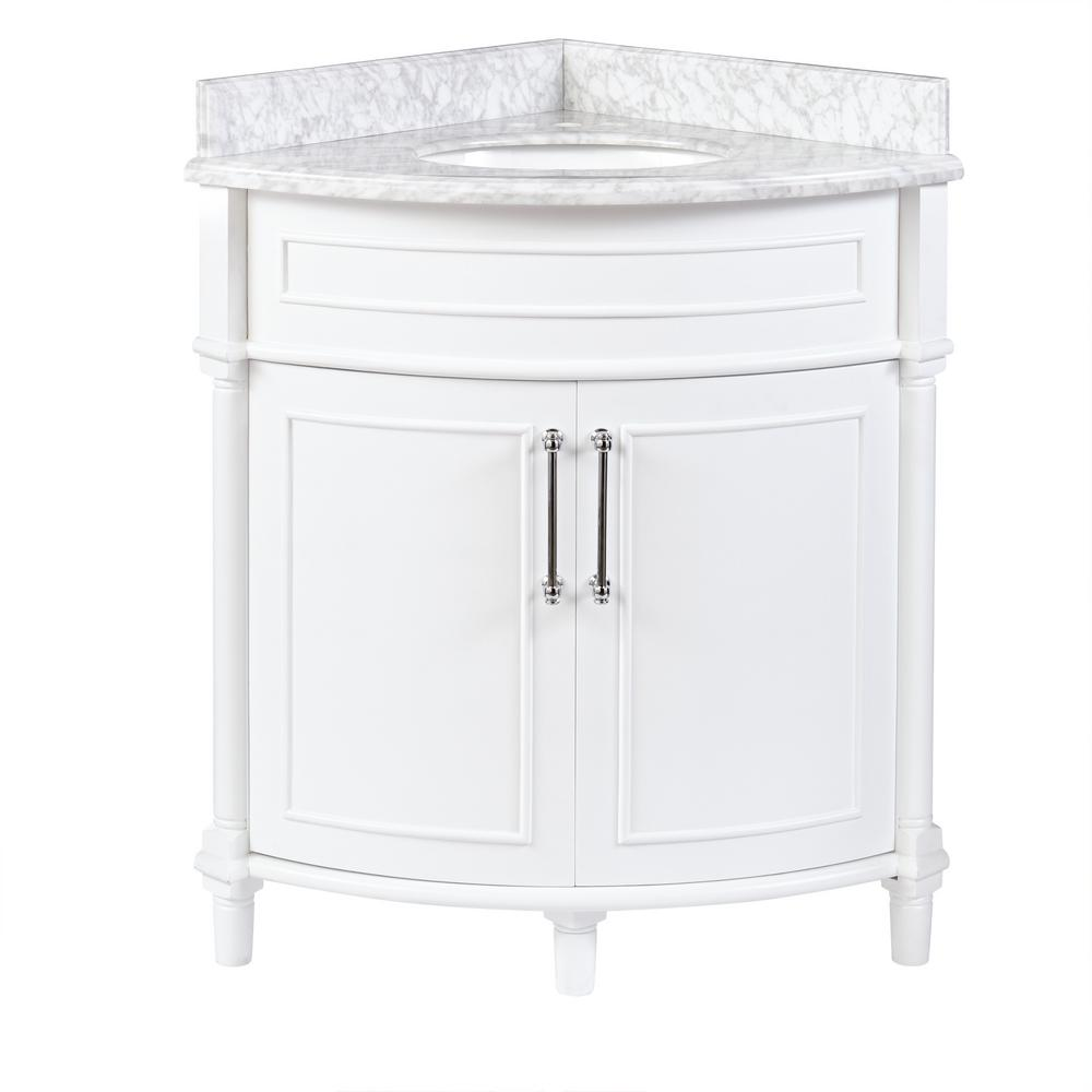 home decorators collection aberdeen 32 in. w x 23 in. d corner vanity HAOHFRB