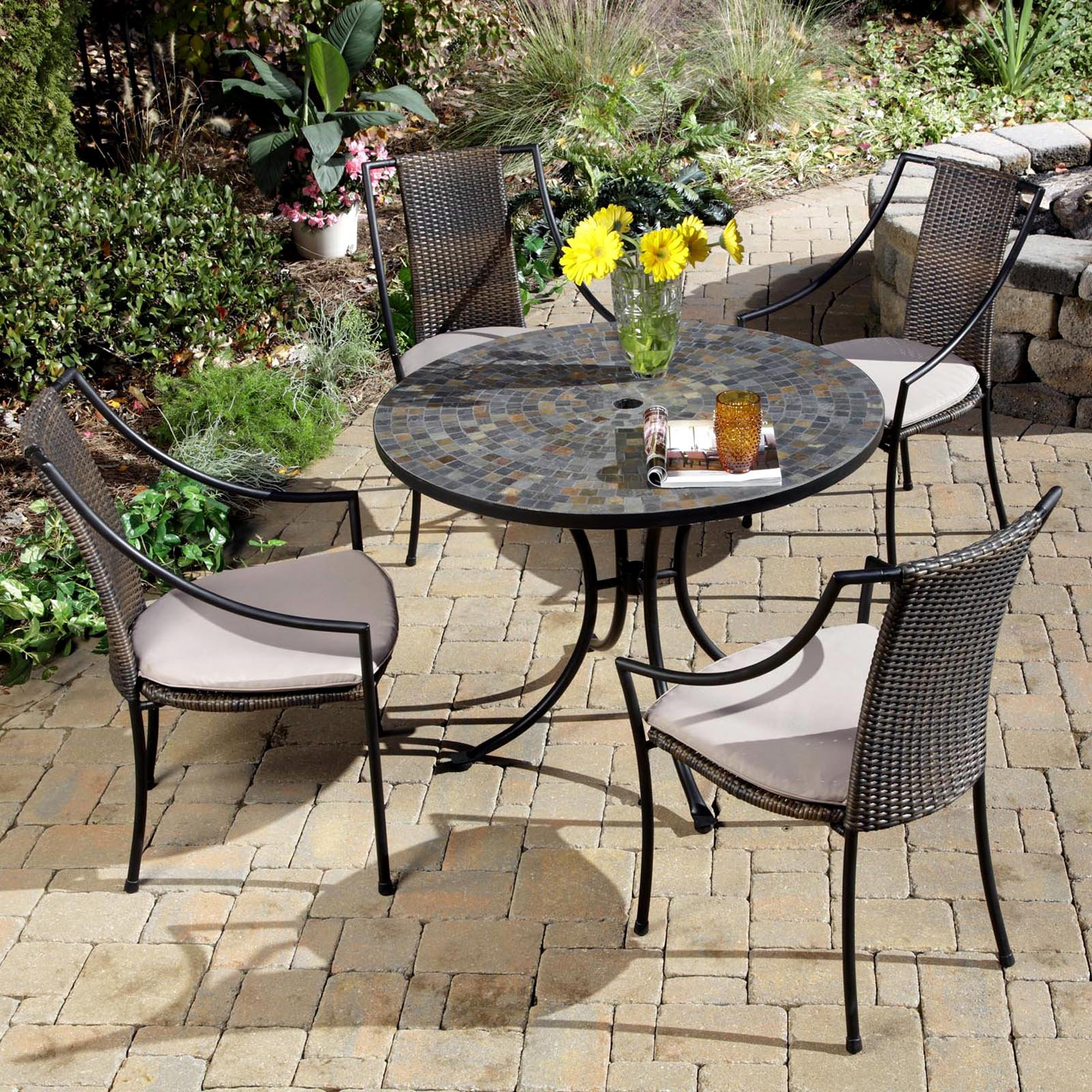 home styles stone harbor mosaic outdoor dining set | hayneedle DWVHEBP