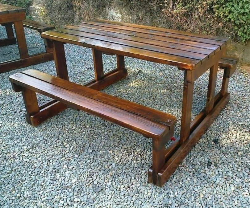 homemade wooden garden benches KGIHOVC