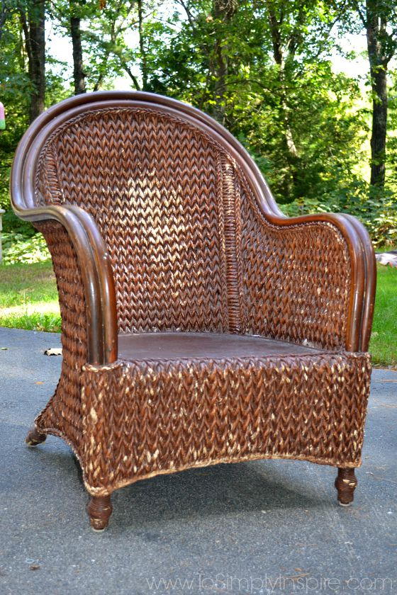 how to paint wicker furniture brown KLJVXQE