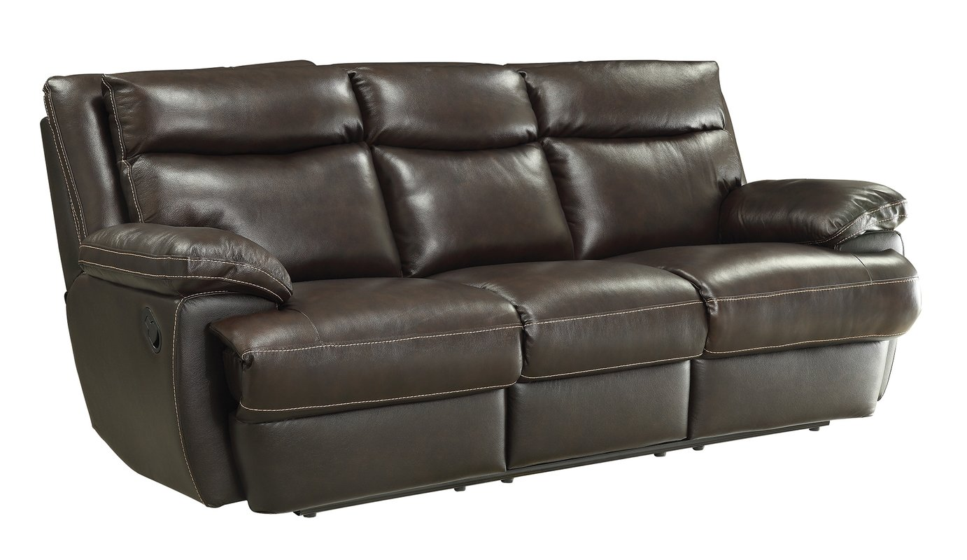 hughes leather reclining sofa UUVOCFP