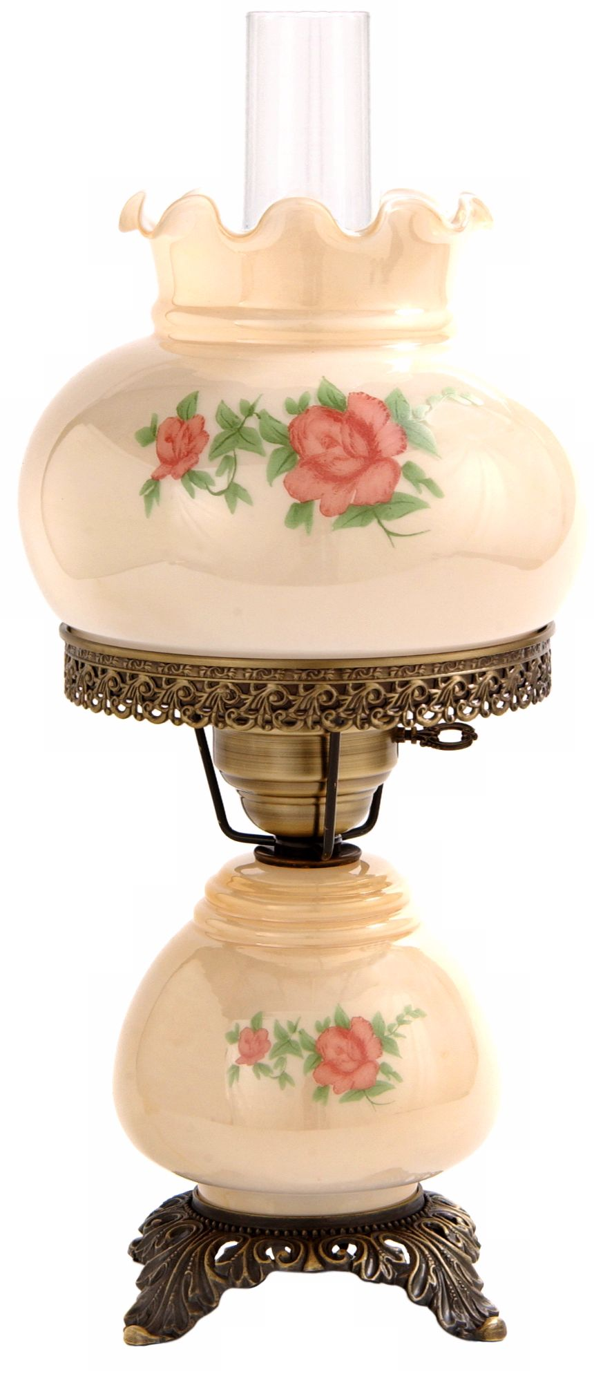 hurricane lamps small red rose 18 LASMMKM