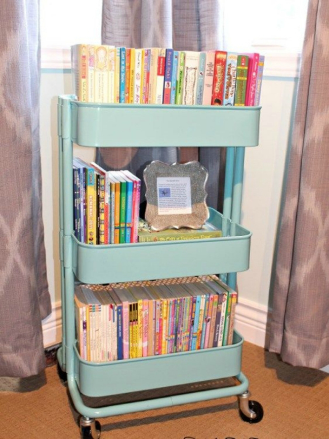 ikea cart book storage GEFWVXY