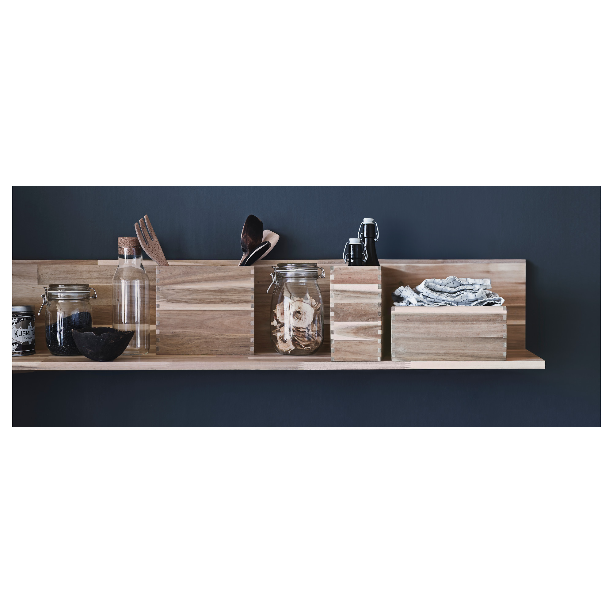 ikea skogsta wall shelf solid wood is a durable natural material. GIQRJNW