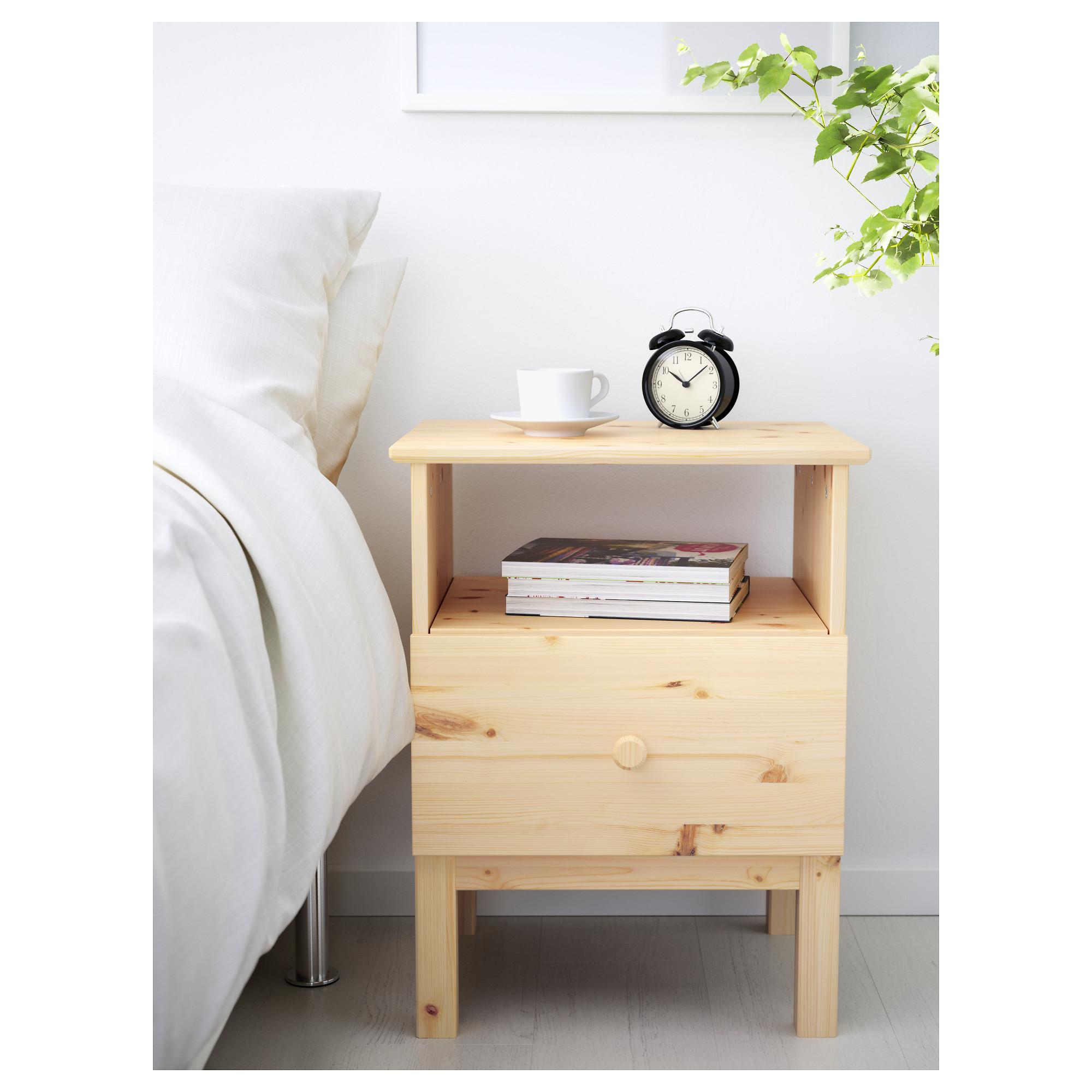 ikea tarva bedside table made of solid wood, which is a hardwearing IJBDHAA