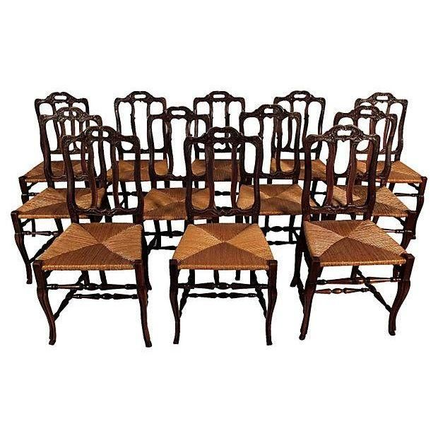 image of traditional french antique dining chairs - 12 BUAFQIK