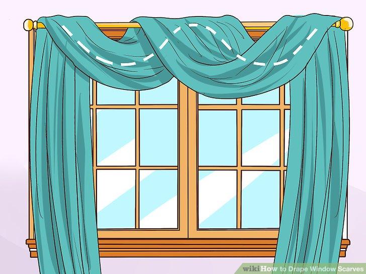 image titled drape window scarves step 2 AOBFYUG