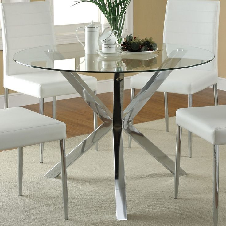 inspiration of round glass dining table and round glass dining table modern EZQDNLN
