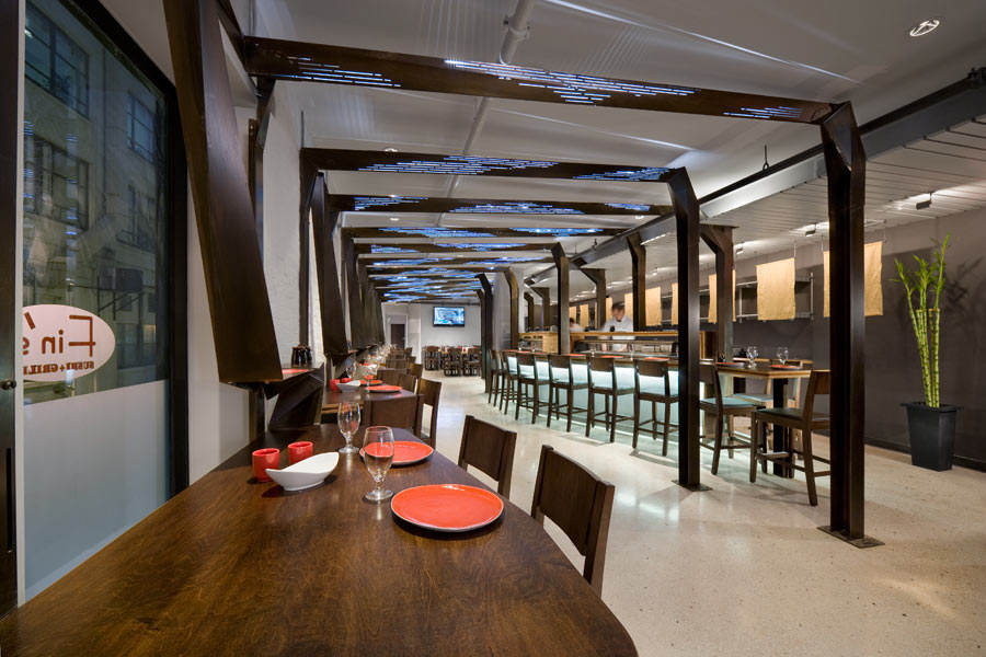 interior architecture photo finu0027s sushi and grill by studio luz architects ... HMXUTUJ