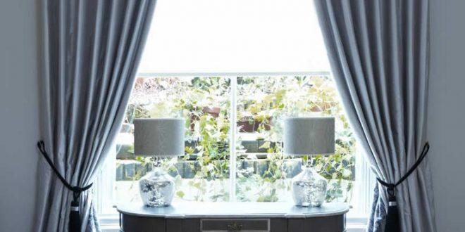 interlined twin pinch pleat silk curtains on lath u0026 fascia MRNAFDV