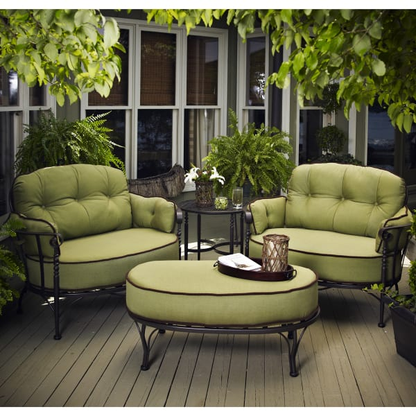 iron patio furniture athens deep seating by meadowcraft UUZOUBS