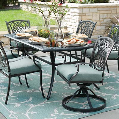 iron patio furniture metal patio dining sets WWMXOHT
