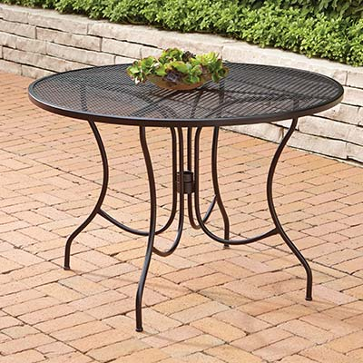 iron patio furniture metal patio tables XEBZFIE