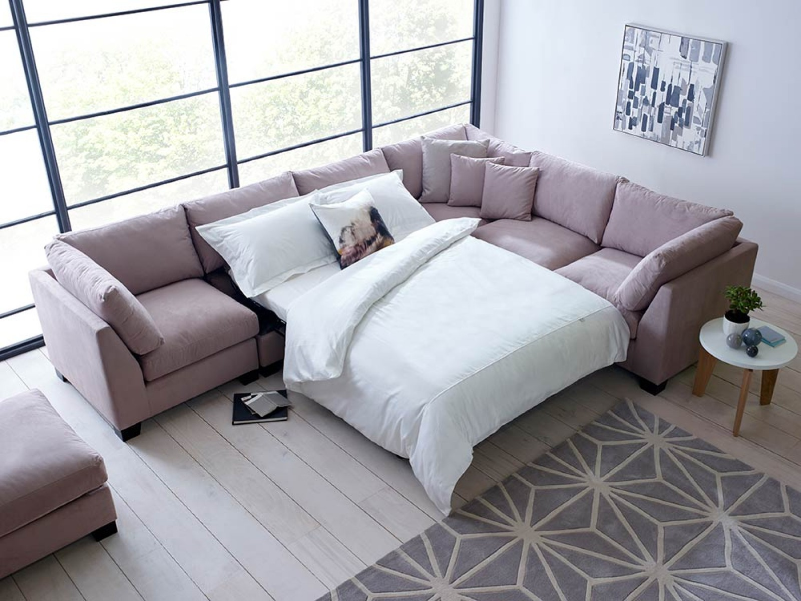 A corner sofa bed for your home