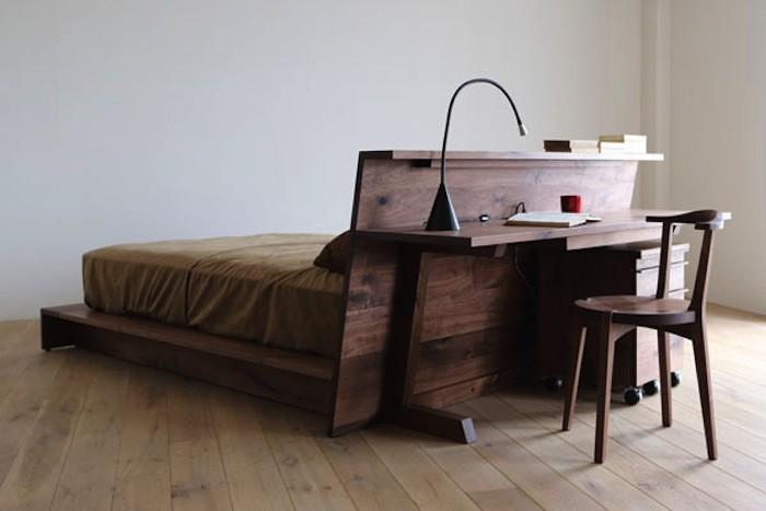 japanese furniture above: the caramella bed is made of walnut and detailed with a long QSPWFYJ