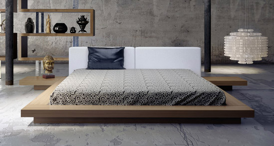 japanese furniture arata japanese platform bed UVNFXGD