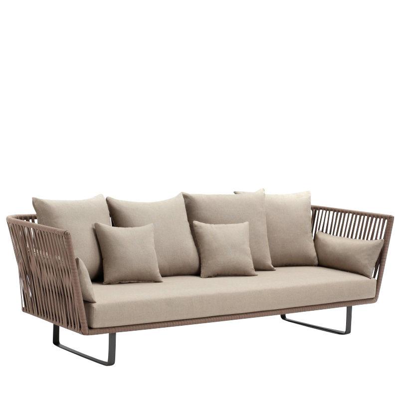 kettal - bitta 3-seater outdoor sofa - beige 285 drysand laminate/incl. FZUFAYY