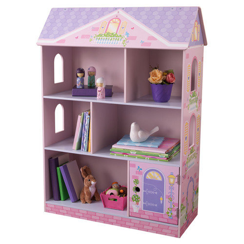 kidkraft dollhouse bookcase kids wood organizer shelves KTIZOYA