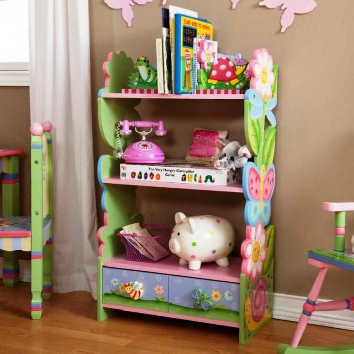 kids bookshelf girls colorful kids bedroom NQSDOWW
