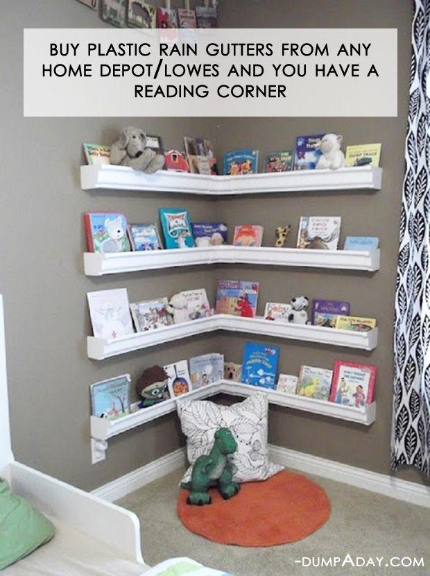 kids bookshelf rain gutter bookshelves NDPVITO