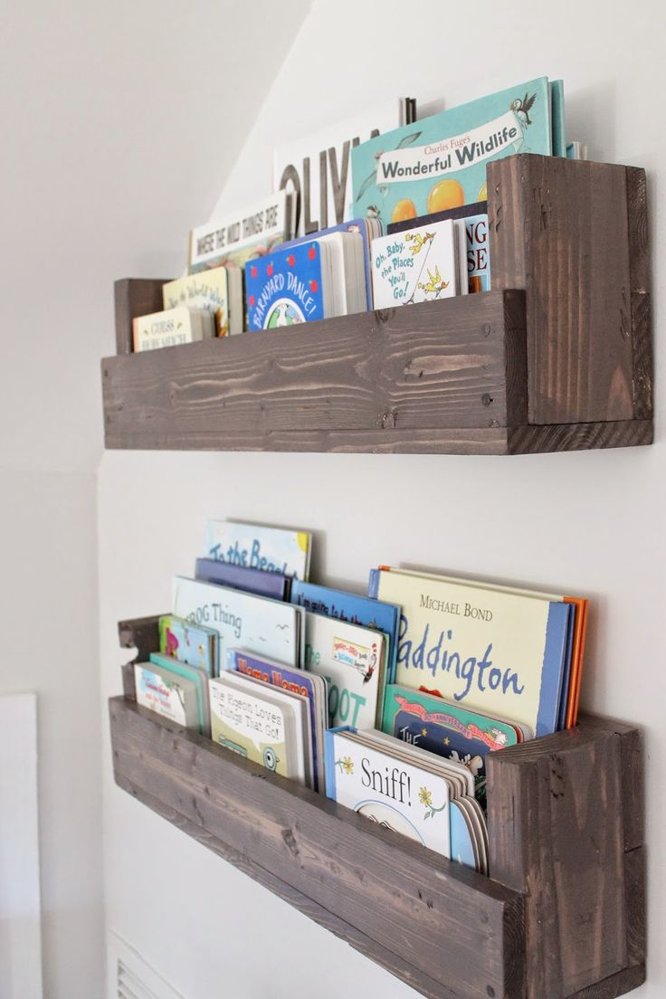 kids bookshelf see how caitlin from the picket fence projects whipped up these rustic AJBXANP