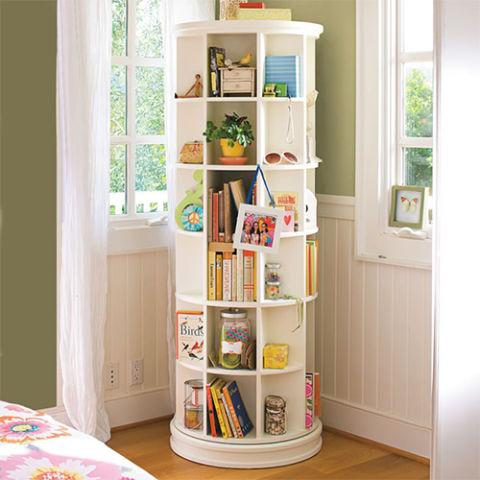 kids bookshelves pbteen revolving bookcase AKXNIJM