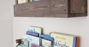 kids bookshelves see how caitlin from the picket fence projects whipped up these rustic OGXCXIK