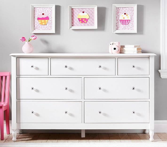 Great Kids Dresser Juliette Extra Wide Dresser | Pottery Barn Kids BIDTDUO