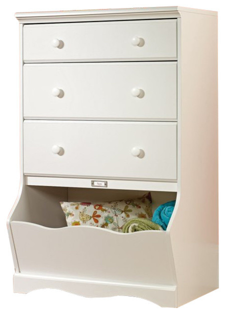 kids dressers sauder pogo 3-drawer chest, soft white transitional-kids-dressers-and CBJSAMA