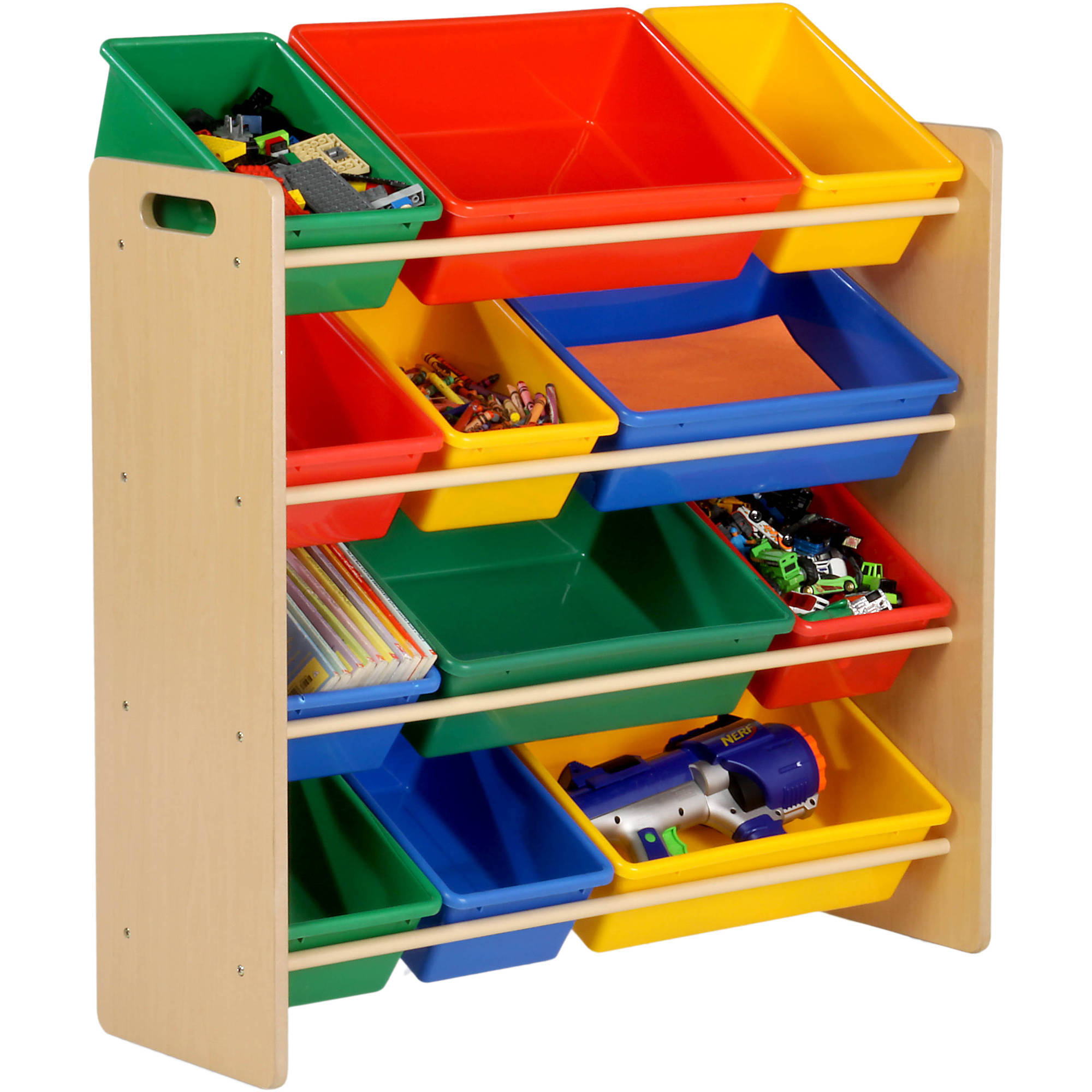 kids storage honey can do kidu0027s toy organizer with 12 storage bins, multicolor - ACUOLAO