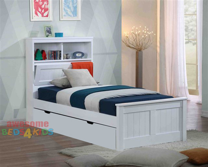 kids trundle beds botany bed frame features handy pull down storage in the bed head as CVNTCLM